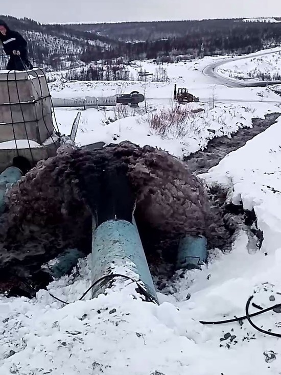 """Воду из шахты """"Денисовская"""" в Якутии сливают на ландшафт? Видео"""