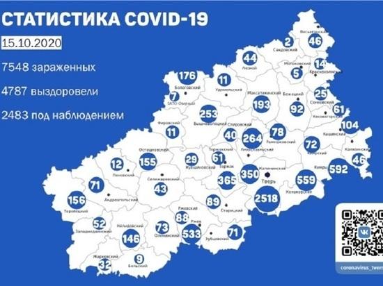 За 24 часа в Твери выявлены 29 человек с коронавирусом