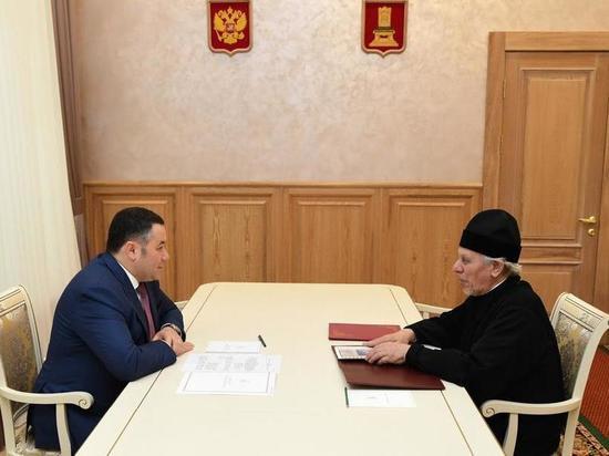 Губернатор Тверской области поздравил директора Городенской православной гимназии с получением ордена Дружбы