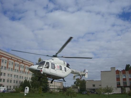 Вертолет санавиации совершил в Марий Эл 17 вылетов