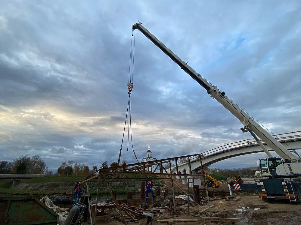 В Твери завершается строительство моста через Тьмаку: фото с места