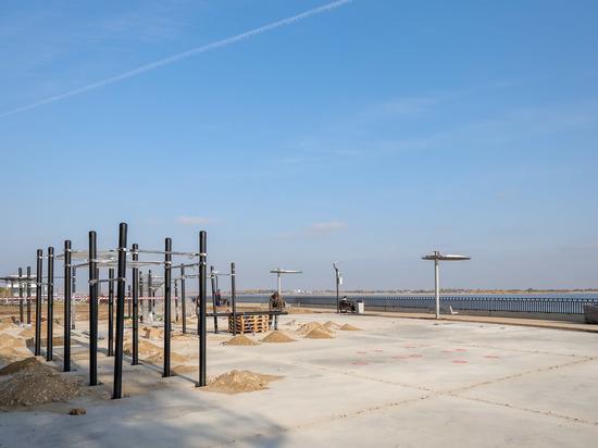 В Волгограде в сквере у «Гасителя» появится новая воркаут-площадка