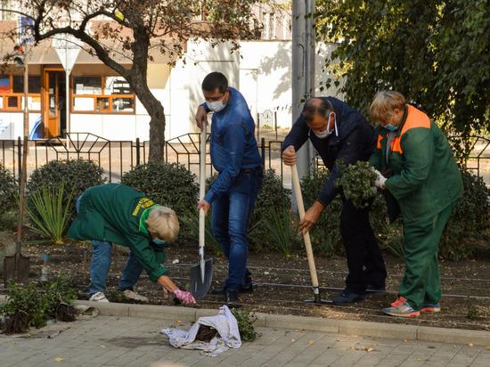 Глава Донецка Алексей Кулемзин принял участие в высадке саженцев роз