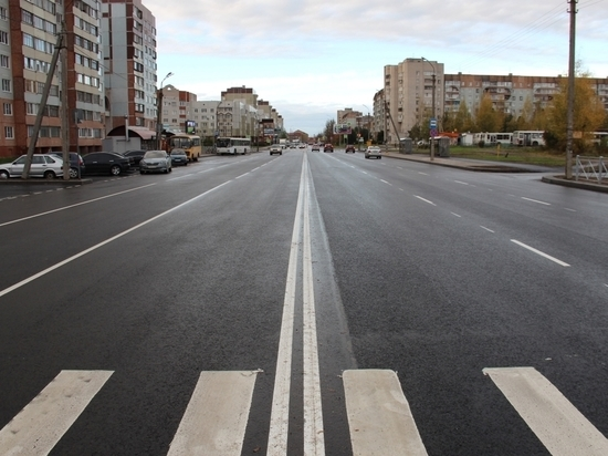 Улицу Рокоссовского в Пскове отремонтировали за 32 млн