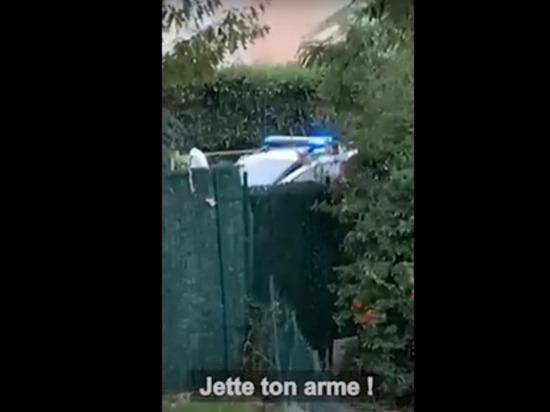 Опубликовано видео ликвидации чеченца, обезглавившего учителя под Парижем