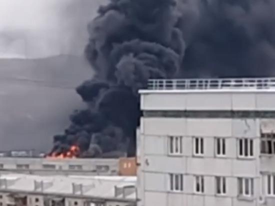 Красноярцев испугал столб черного дыма в районе Калинина