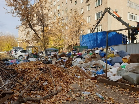 В Оренбурге причиной свалок во дворах стали драные мешки