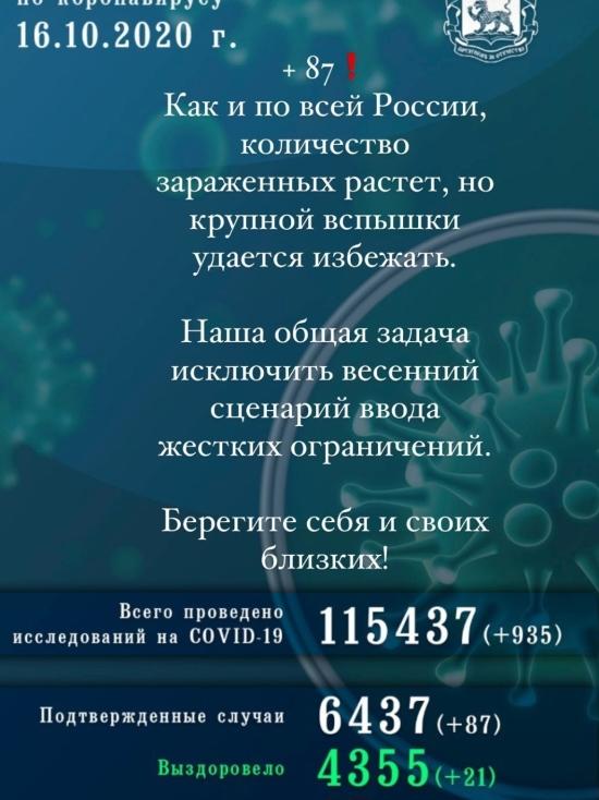 Ещё 87 человек заболело коронавирусной инфекцией в Псковской области