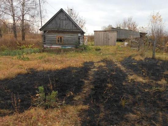 В Сасовском районе заживо сгорел пенсионер
