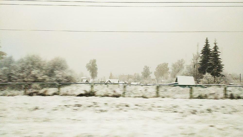 В октябре в Тверской области выпал первый снег: кадры со всей области