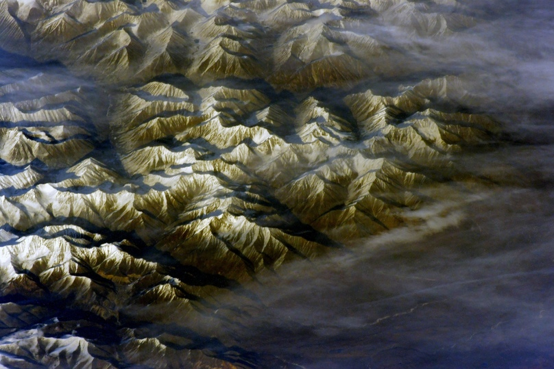 Космонавт опубликовал с МКС фото Чарских песков в Забайкалье