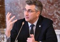 Неизвестные прислали премьер-министру Хорватии Андрею Пленкович письмо с неустановленным белым порошком и угрозами