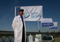 В Астрахани проверили качество воды в Волге в рамках экологического проекта