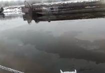 В ЯНАО неизвестные слили нефтепродукты в протоку Оби