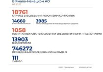 На Ямале COVID-19 диагностировали еще у 175 человек