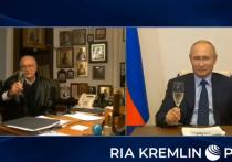 Президент России Владимир Путин поздравил сегодня режиссера Никиту Михалкову с 75-летием в режиме онлайн-видеосвязи и поднял бокал с шампанским за его здоровье