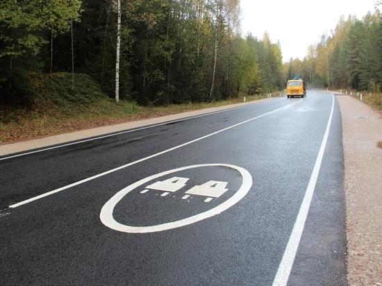 Самую протяжённую дорогу нацпроекта отремонтировали под Гдовом
