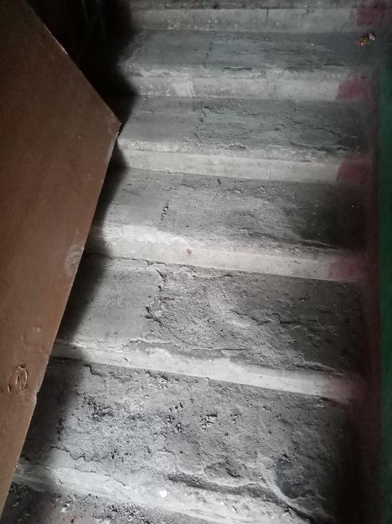 На ужасное качество ремонта подъезда пожаловалась псковичка главе города