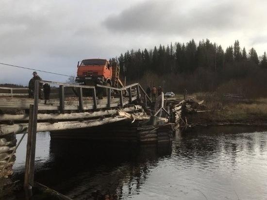 Водитель КамАЗа, разрушивший мост в Шенкурском районе, не имел прав