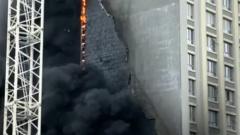 В Екатеринбурге загорелась новая многоэтажка: кадры с места