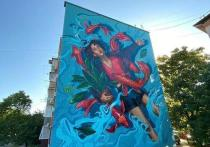 Новое «подводное» граффити появилось в кубанской столице