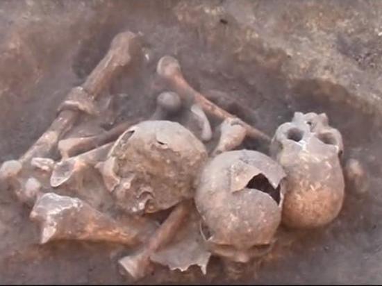Азовские археологи при раскопках нашли перезахоронение останков древних людей