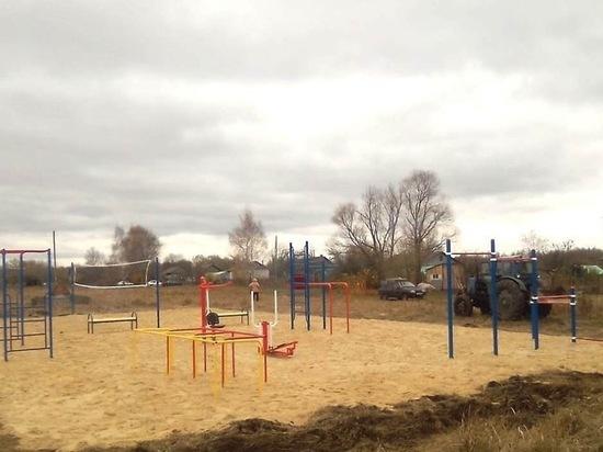 В Ухоловском районе сделали спортплощадку в рамках местных инициатив