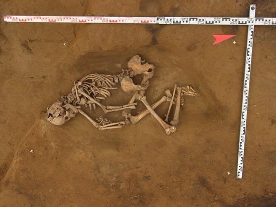 Красноярские археологи нашли средневековый скелет человека