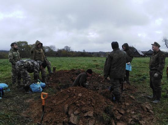 Пятерых павших в боях ВОВ нашли поисковики под Невелем