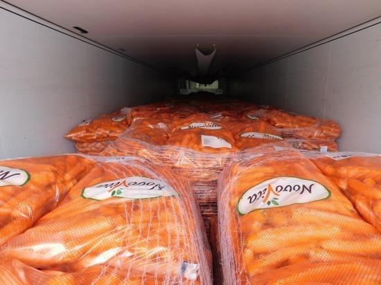 21 тонну моркови не пропустили через границу в Псковской области