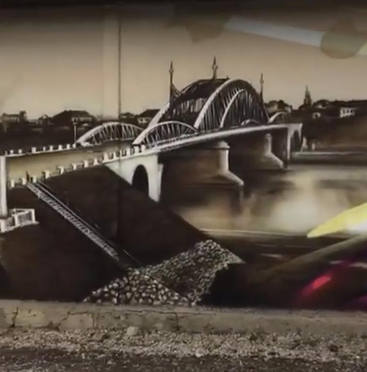 В областном центре появилось граффити с видом старинного Пскова, фото-2