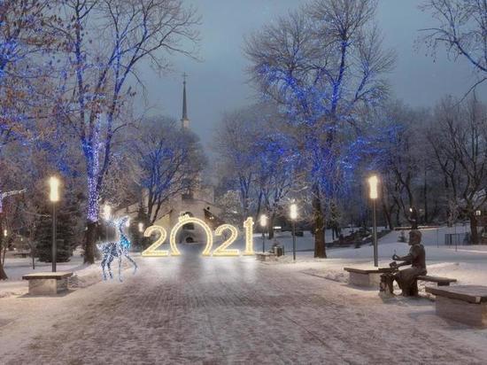 Новогодний Псков - в декабре город засверкает