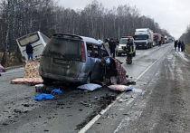 Двое детей погибли в ДТП с микроавтобусом на кемеровской трассе