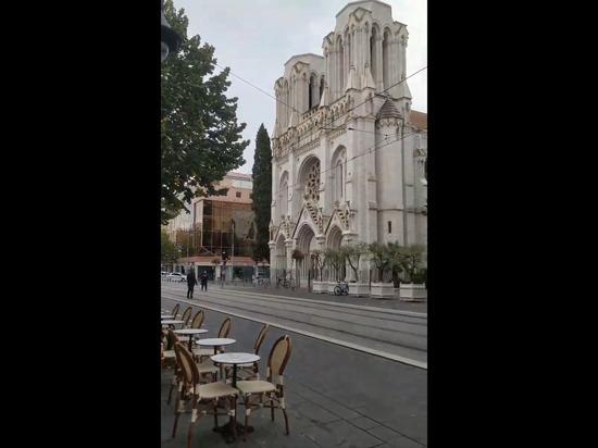 СМИ: в Ницце вооруженный мужчина напал на людей около церкви
