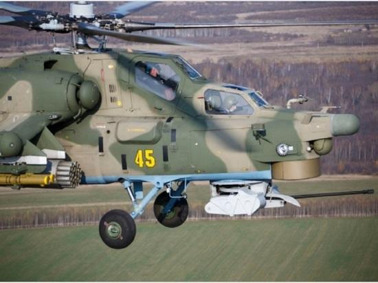 Недалеко от Твери военные вертолёты показали свою мощь