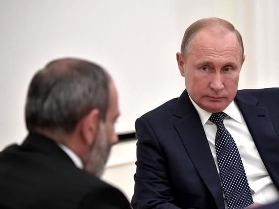 Пашинян попросил у Путина защиты