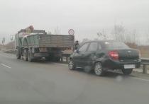 Из-за ДТП с грузовиком на Солотчинском шоссе образовалась пробка