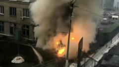 Момент взрыва кислородной будки в Челябинске попал на видео