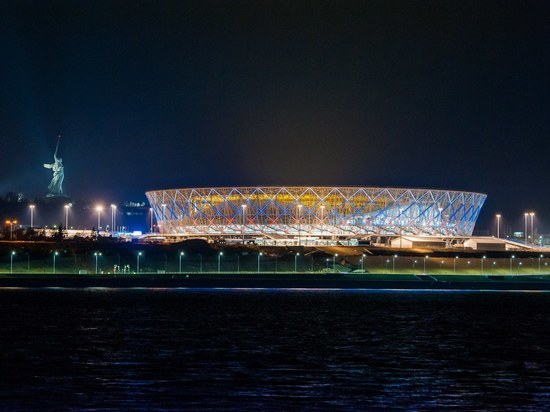На стадионе «Волгоград Арена» включат праздничную подсветку