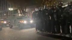 Разгонять беспорядки в Портленде после выборов прислали силовиков: видео