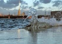 В Петербург пришел шторм из Финляндии, ожидается наводнение