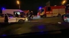 Крупная авария на Кутузовском проспекте попала на видео: трое пострадали