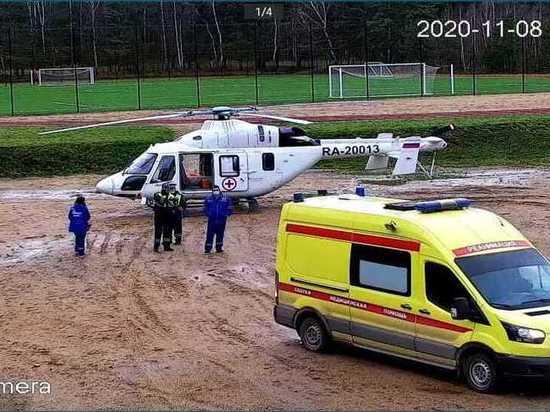Больного из Боровска эвакуировали на вертолете