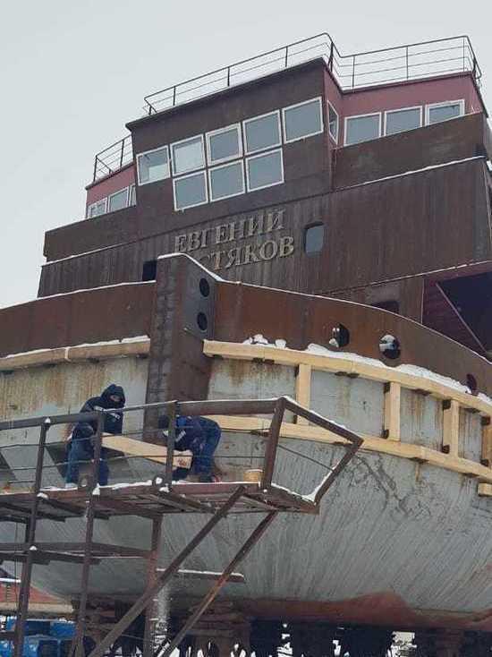 В Ленском пароходстве продолжается межнавигационный судоремонт