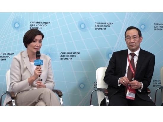 Айсен Николаев представил на форуме «Сильные идеи для нового времени» инициативы Якутии