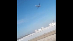 Самолет выкатился за полосу при аварийной посадке в Новосибирске: видео