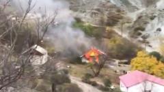 Армяне сжигают дома в буферной зоне Карабаха: никому не достанутся