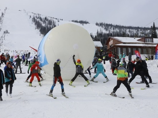 Кузбасский курорт первым в нашей стране открыл горнолыжный сезон
