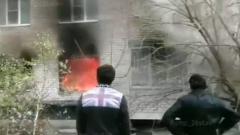 Последствия взрыва газа в Ставрополе сняли на видео: квартира загорелась