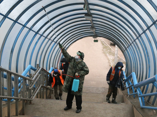Дезинфекция мостов и подземных переходов проходит в Нижнем Новгороде